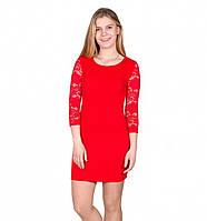 Платье футляр с гипюром