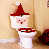 Новый год Рождество Санта крышка унитаза комплект ванной ткани комплект рождественские украшения для дома