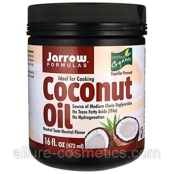 Кокосовое масло Jarrow Formulas Organic Coconut Oil 473гр