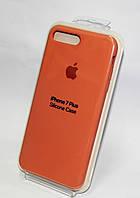 Оригинальный чехол iPhone 7+ Silicone case оранжевый