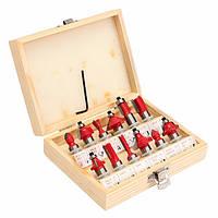 12шт деревообрабатывающие Фреза резак карбида вольфрама роторный набор инструментов
