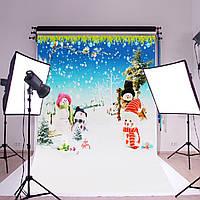 Шелк постер снеговик Рождественская елка цветок фотографии фоном фон