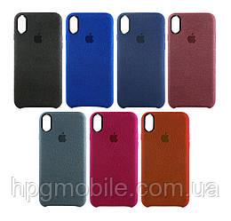 Чехол для iPhone X - Alcantare cover, разные цвета