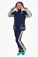 Костюм лыжный женский Avecs 0391 D.Blue влагостойкость 5000 мм Omni Heat зима недорого | Avecs костюм размер
