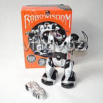 Робот на пульте управления радиоуправляемая игрушка Robowisdom серебристый, фото 2