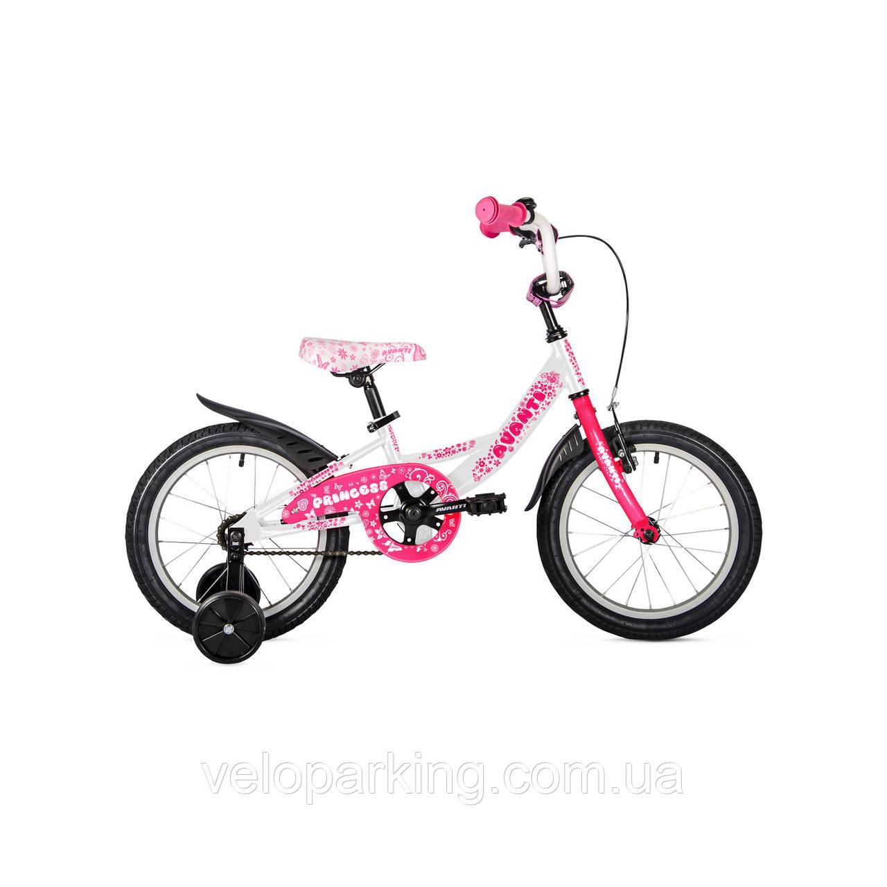 Детский двухколесный велосипед Avanti Princess 16 new (2018)
