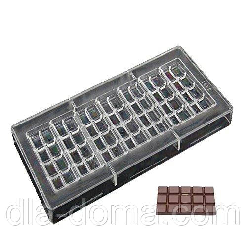 "\Молд поликорбонат для шоколада ""Мини Шоколадка"""
