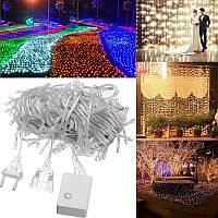 20m 200 LED водонепроницаемый фея свет шнура рождества напольный светильник свадьба ес подключить AC220V