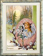 """Набор для вышивания бисером №40316 """"Пасхальный ангел"""""""