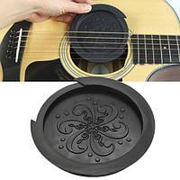 Звук отверстие крышки протектора буфера черный резиновый для 40 41-дюймовый акустической гитары