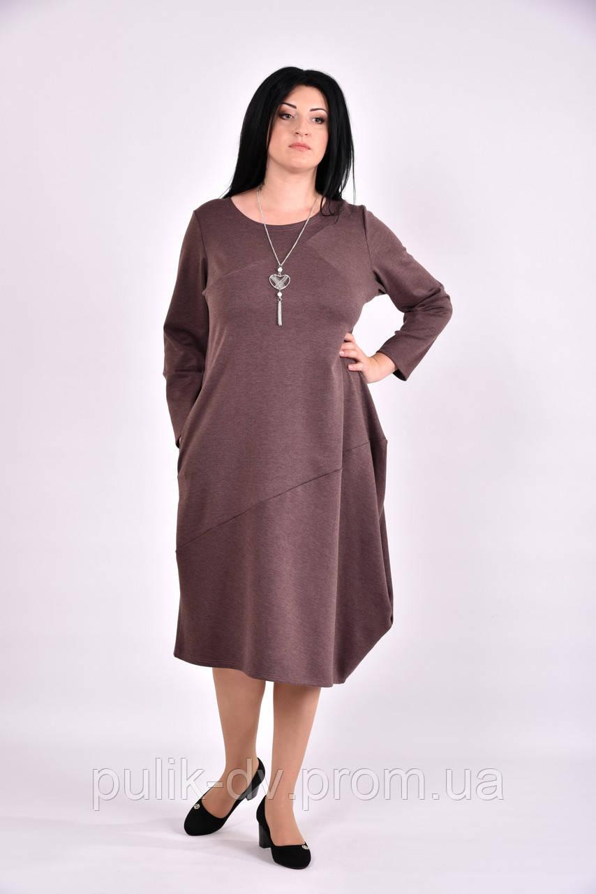 Коричневое трикотажное платье | 0582-1 - Margo&Ko в Одессе