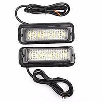 Пара Белый/Янтарный Высокий Яркий LED Предупреждение Аварийный свет Beacon Strobe Фонарик Бар для Авто Грузовик 1TopShop