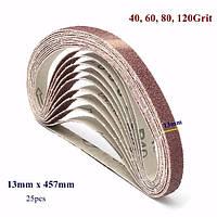 25 штук 13x457mm 40/60/80/120 грит циркониевые шлифовальной ленты абразивные инструменты