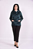 Темно-зеленый модный женский плащ | 0601-2