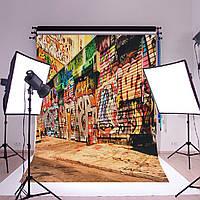 Граффити стены творческой ретро искусства стены огромный плакат шелк романтический декор фото фон