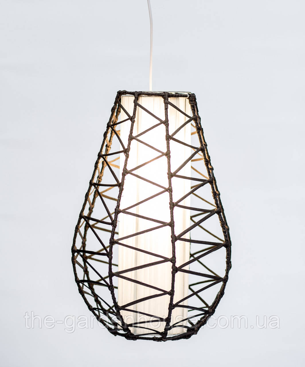 """Светильник """"Капля"""" плетеный с цилиндром, 40 см"""