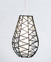 """Світильник """"Крапля"""" плетений з циліндром, 40 см"""
