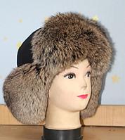 Мужская молодежная шапка ушанка из меха кролика