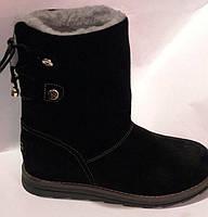 Угги женские зима молодежные черные, угги женские молодежные нубук от производителя модель РУ212