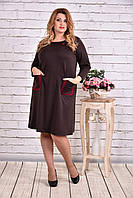 Шоколадное платье из французского трикотажа | 0617-3