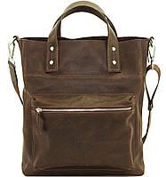 Мужская сумка с двумя ручками коричневая матовая
