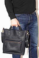 Мужская сумка с двумя ручками синяя матовая