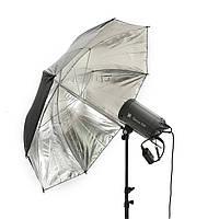 43 дюймов 110 см Черный серебряный рефлексивный зонтик для фотостудии Softlight Studio Softbox