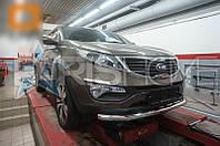 Защита на передний бампер Kia Sportage 2010-2016