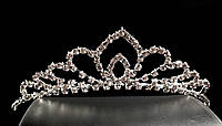 Диадема-обруч с короной, высота 3,5 см