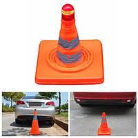 Безопасности дорожного движения конуса складывания отражательные баррикады предупреждающий знак с LED мигающий свет