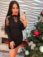 Красивое платье-туника с декором кружево