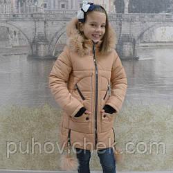 Зимняя детская куртка парка для девочки Украина