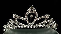 Диадема-обруч с короной, высота 4 см