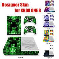 Игровая консоль + 2 контроллер Sуслуги родовспоможения дизайнер Sкрасочные сетки ONE S кин для Xbox Sбегущая строка