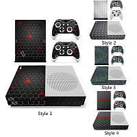 Игровая консоль + 2 контроллер Sуслуги родовспоможения дизайнер Sкин для Xbox ONE S тикер переводная картинка Sнетто сетки