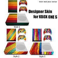 Игровая консоль + 2 контроллер Sкин для Xbox ONE S тикер переводная картинка Sдизайнер