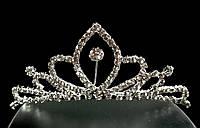 Диадема-обруч с короной, узоры, высота 4 см