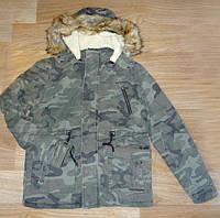 Мужские зимние камуфляжные куртки на овчине из Венгрии M,XL,XXL.