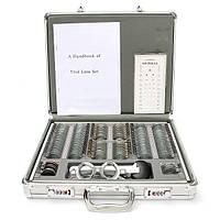 158 штук оптическая проба оптометрии объектив установлен с металлическим кодом алюминиевый корпус