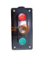 Пост кнопочный ПК722-3, 10A, 230/400B, (корпус карболит, 1 красная, 2 черные), Electro