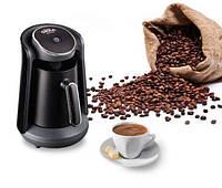 Кофемашина для турецкого кофе Arzum Okka Minio черная c серебрянной отделкой