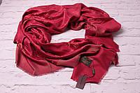 Хит сезона! люрексовый палантин-шаль  Louis Vuitton бордо вышит золотой нитью