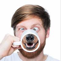 Смешная собака нос кофе чай кружка творческий нос животного собачьи подарок чашка керамическая вода для друзей