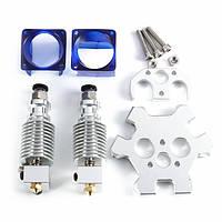 V6 с двойной головкой для экструзии с алюминиевой парой M4 Effector для 3D-принтеров