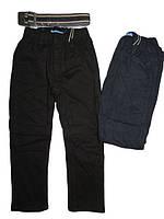 Теплые коттоновые брюки на флисе на резинке для мальчика 110,116