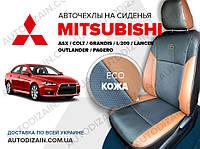 Авточехлы на MITSUBISHI L200 IV (Митсубиси Л200) (экокожа) СА