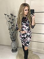 """Новогоднее женское  платье """"Velor flowers"""" , розовое !, фото 1"""