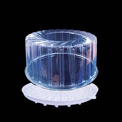 Пластиковая упаковка для круглого торта на пол (0,5) кг 1412п/б ПЕТ