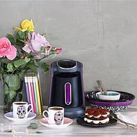 Кофемашина для турецкого кофе Arzum Okka Minio черная c фиолетовым