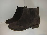 Pier One_шикарные стильные ботинки Португалия замша 40р ст.26см H73